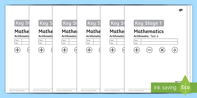 Key Stage 1 Arithmetic Full Tests - tests, arithmetic, 2016, practice, stage, 1, key, full, 2014, curriculum, numeracy, maths