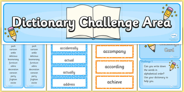 Use First 3 4 Letters in a Word to Check in Dictionary Teaching