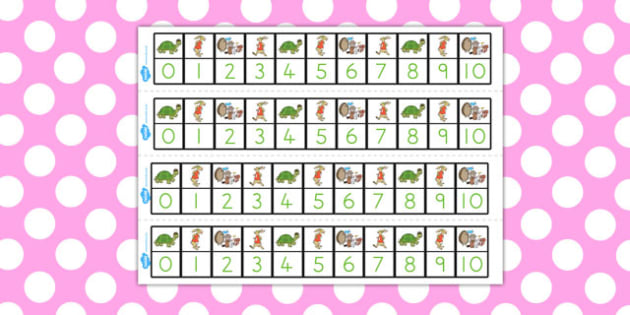 The Tortoise and the Hare Number Track 0 10 - numbers, counting