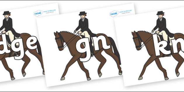 Silent Letters on Equestrian (Horses) - Silent Letters, silent letter, letter blend, consonant, consonants, digraph, trigraph, A-Z letters, literacy, alphabet, letters, alternative sounds
