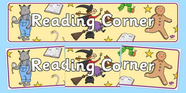 Reading Corner Display Banner - reading, display, banner, header