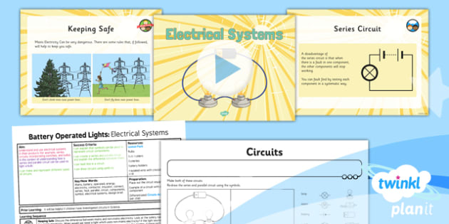 DT: Battery Operated Lights Unit: Electrical Systems LKS2 Lesson Pack 2