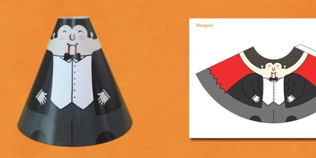 Halloween Cone Characters Vampire - halloween, vampire, cone