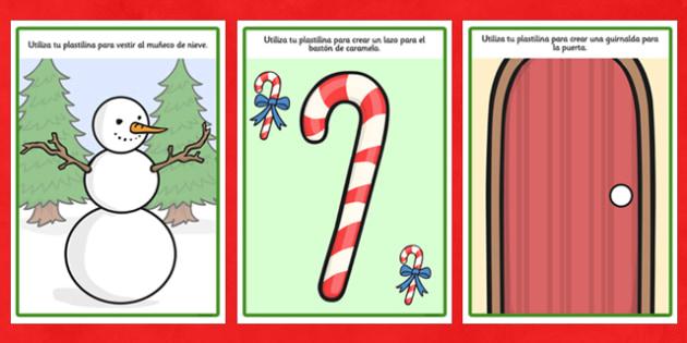 Tapices de plastilina - Navidad - motricidad fina, navidades, regalos, fiestas nacionales
