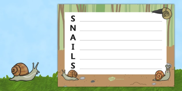 Snails Acrostic Poem - acrostic poems, acrostic poem, snails, snail, snails acrostic poem template, snails acrostic poem writing frame, minibeasts, minibeast acrostic poem, minibeast snail poem, acrostic, poem, poetry, literacy, writing activity, act