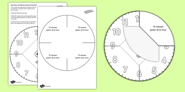 Interactive Simple Clock Visual Aid - interactive, simple, clock, visual aid, time, telling the time, reading a clock
