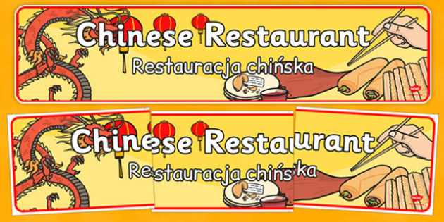 Chinese Restaurant Display Banner Polish Translation - polish, chinese new year, chinese, restaurant, display banner, display, banner