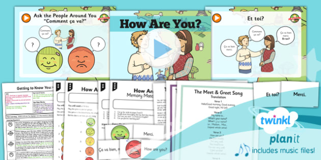 French: Getting to Know You: How Are You? Year 3 Lesson Pack 3
