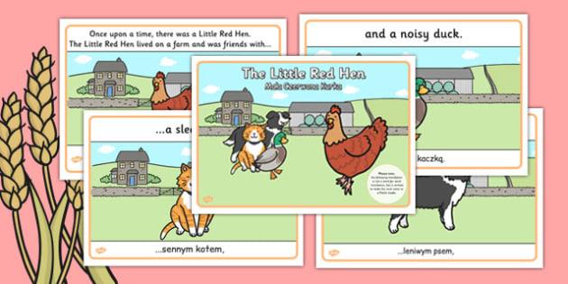 The Little Red Hen Story Polish Translation - polish, little red hen, story