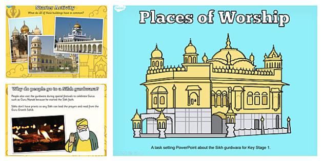Places of Worship Sikh Gurdwaras KS1 PowerPoint - religion, ks1