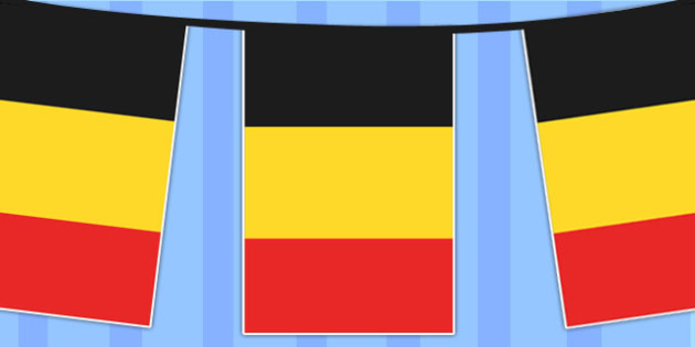 Belgium A4 Flag Bunting - countries, geography, flags, country