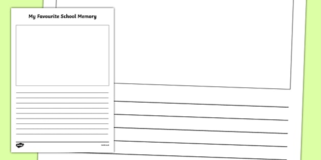 Favourite Memory Activity Writing Activity Sheet, worksheet