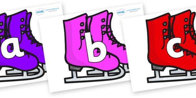 Phoneme Set on Ice Skates - Phoneme set, phonemes, phoneme, Letters and Sounds, DfES, display, Phase 1, Phase 2, Phase 3, Phase 5, Foundation, Literacy