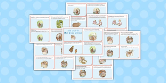 The Tale of Mrs Tiggy Winkle Story Cards - mrs tiggy winkle
