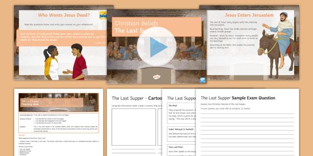 The Last Supper Lesson Pack - Christianity; Last Supper; Communion; Eucharist; Jesus; Gospel