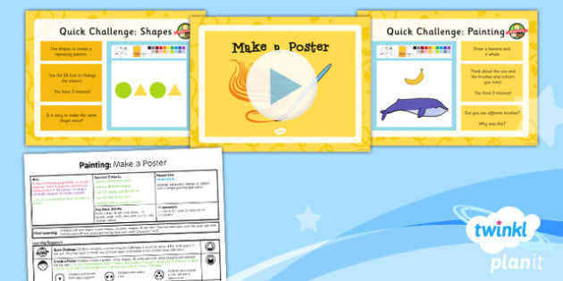 Computing: Painting: Make a Poster Year 1 Lesson Pack 6