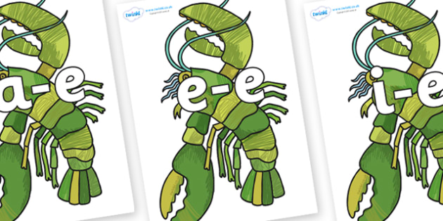 Modifying E Letters on Lobster - Modifying E, letters, modify, Phase 5, Phase five, alternative spellings for phonemes, DfES letters and Sounds