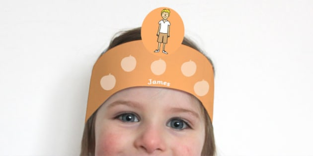 Role Play Headbands to Support Teaching on James and the Giant Peach - roleplay, props