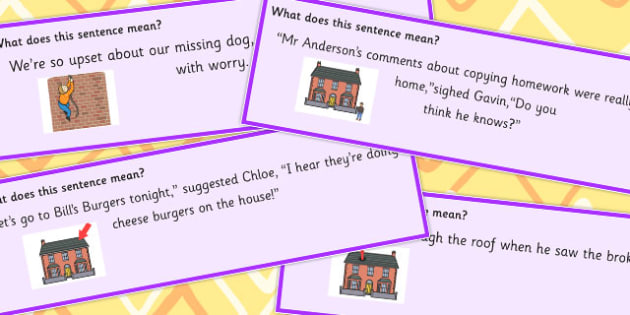 Building Idioms Sentence Cards - Builds, Idiom, Idioms, Sentences