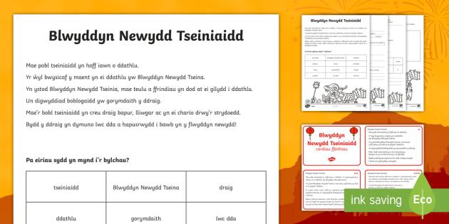 Blwyddyn Newydd Tseiniaidd Darllen a Deall Gwahaniaethol - Blwyddyn Newydd Tseiniaidd, Darllen a Deall, Chinese New Year