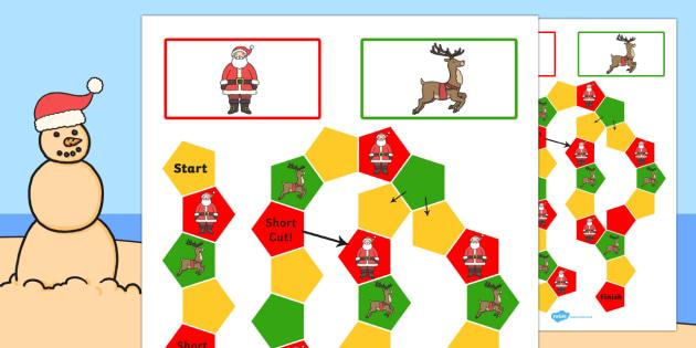 Christmas Themed Editable Board Game - board game, christmas