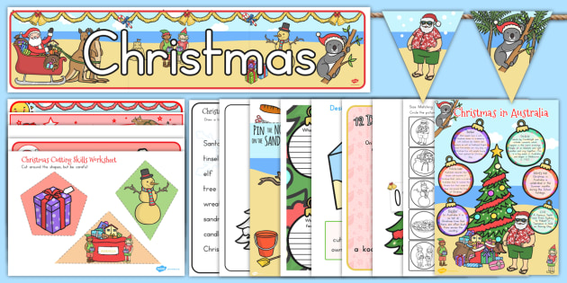 Christmas Resource Pack - australia, christmas, resources, pack