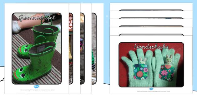 Winterkleidung Foto Poster DIN A4