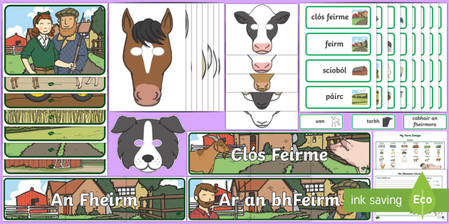 Aistear Pack The Farm Gaeilge Display Pack