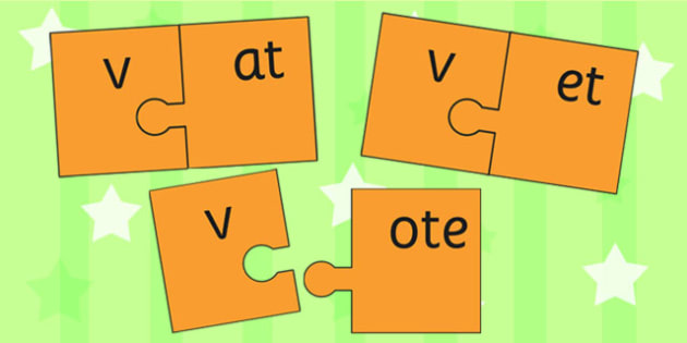 v and Vowel Production Jigsaw Cut Outs - v, vowel, jigsaw, sounds