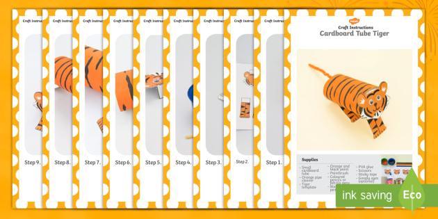 Cardboard Tube Tiger Craft Instructions - craft, cardboard, tiger, tuge, instructions