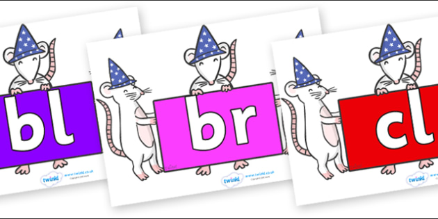 Initial Letter Blends on Magic Mice - Initial Letters, initial letter, letter blend, letter blends, consonant, consonants, digraph, trigraph, literacy, alphabet, letters, foundation stage literacy