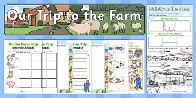 On the Farm School Trip Resource Pack - on the farm, school trip