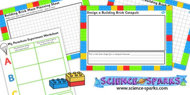 Building Brick Science Experiment Activity Sheet Templates -science sparks, science, worksheet, science write up, experiment write up, experiment recording sheet, ks1 experiment, ks1 investigation