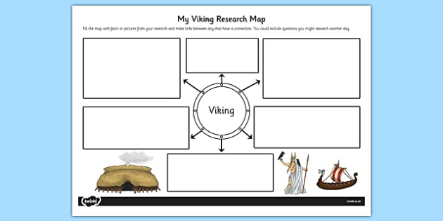 Viking Themed Research Map - viking, themed, research map, map