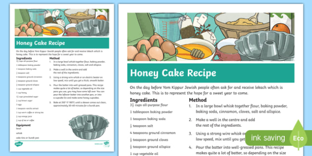 Rosh Hashanah Honey Cake Recipe