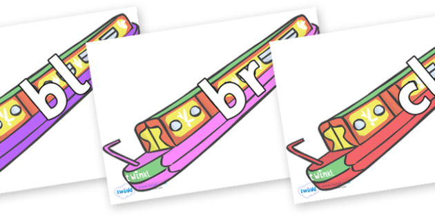 Initial Letter Blends on Narrow Boats - Initial Letters, initial letter, letter blend, letter blends, consonant, consonants, digraph, trigraph, literacy, alphabet, letters, foundation stage literacy
