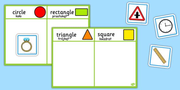 2D Shape Sorting Activity Polish Translation - polish, 2d shape, sorting, activity, sort