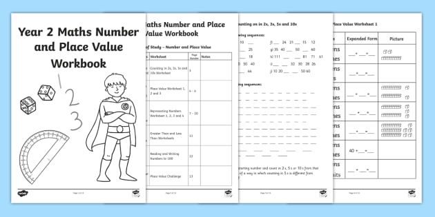 Year 2 Maths Number Place and Value Workbook