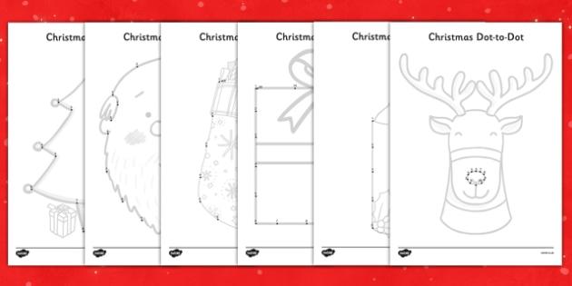 Christmas Dot to Dots - nz, new zealand, christmas, dot to dots
