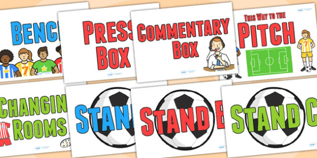 Football World Cup Role Play Stadium Signs - football, world cup