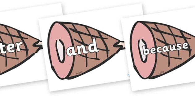 Connectives on Hams - Connectives, VCOP, connective resources, connectives display words, connective displays