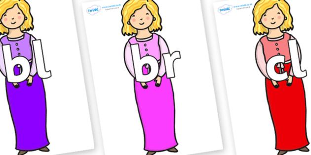 Initial Letter Blends on Rapunzel Short Hair - Initial Letters, initial letter, letter blend, letter blends, consonant, consonants, digraph, trigraph, literacy, alphabet, letters, foundation stage literacy