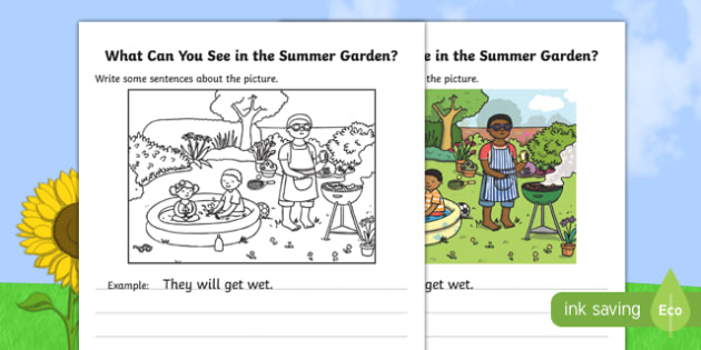 Summer Garden Writing Stimulus Picture