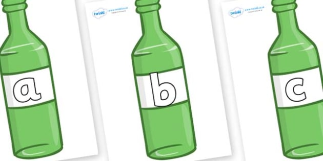 Phase 2 Phonemes on Green Bottles - Phonemes, phoneme, Phase 2, Phase two, Foundation, Literacy, Letters and Sounds, DfES, display