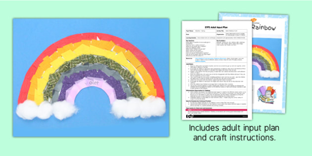 Fabric Rainbow Craft EYFS Adult Input Plan and Resource Pack - adult led, craft