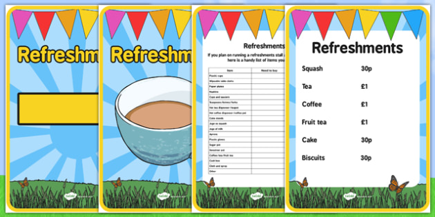 Elderly Care Summer Fair Refreshments - Elderly, Reminiscence, Care Homes, Summer Fair