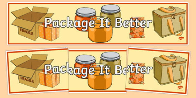 Package It Better Display Banner - australia, Australian Curriculum, Package it Better, science, year 4, banner, wall display