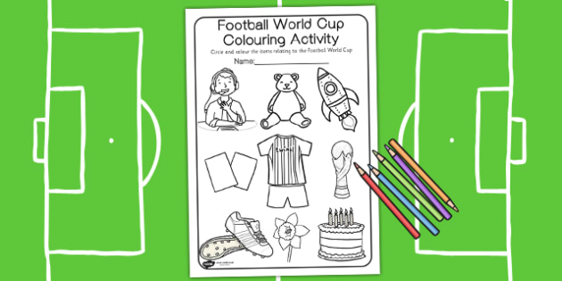 Football Colouring Activity - football, colours, colouring, sport