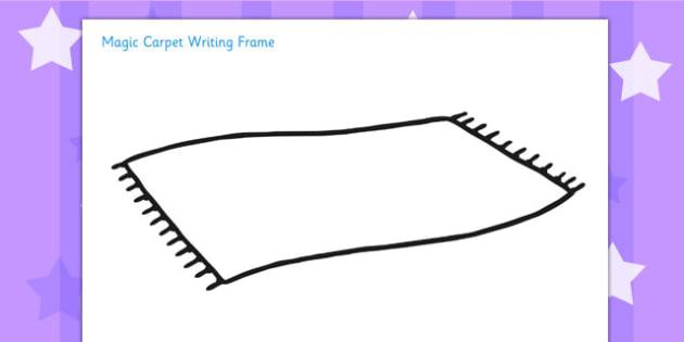 Magic Carpet Writing Frame - magic carpet, aladdin, stories