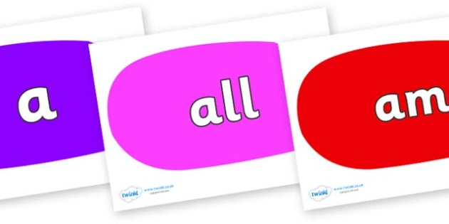 Foundation Stage 2 Keywords on Speech Bubbles (Multicolour) - FS2, CLL, keywords, Communication language and literacy,  Display, Key words, high frequency words, foundation stage literacy, DfES Letters and Sounds, Letters and Sounds, spelling